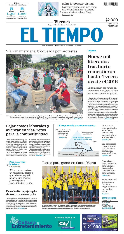 EL TIEMPO 03/11/2017 by Andres A. - issuu