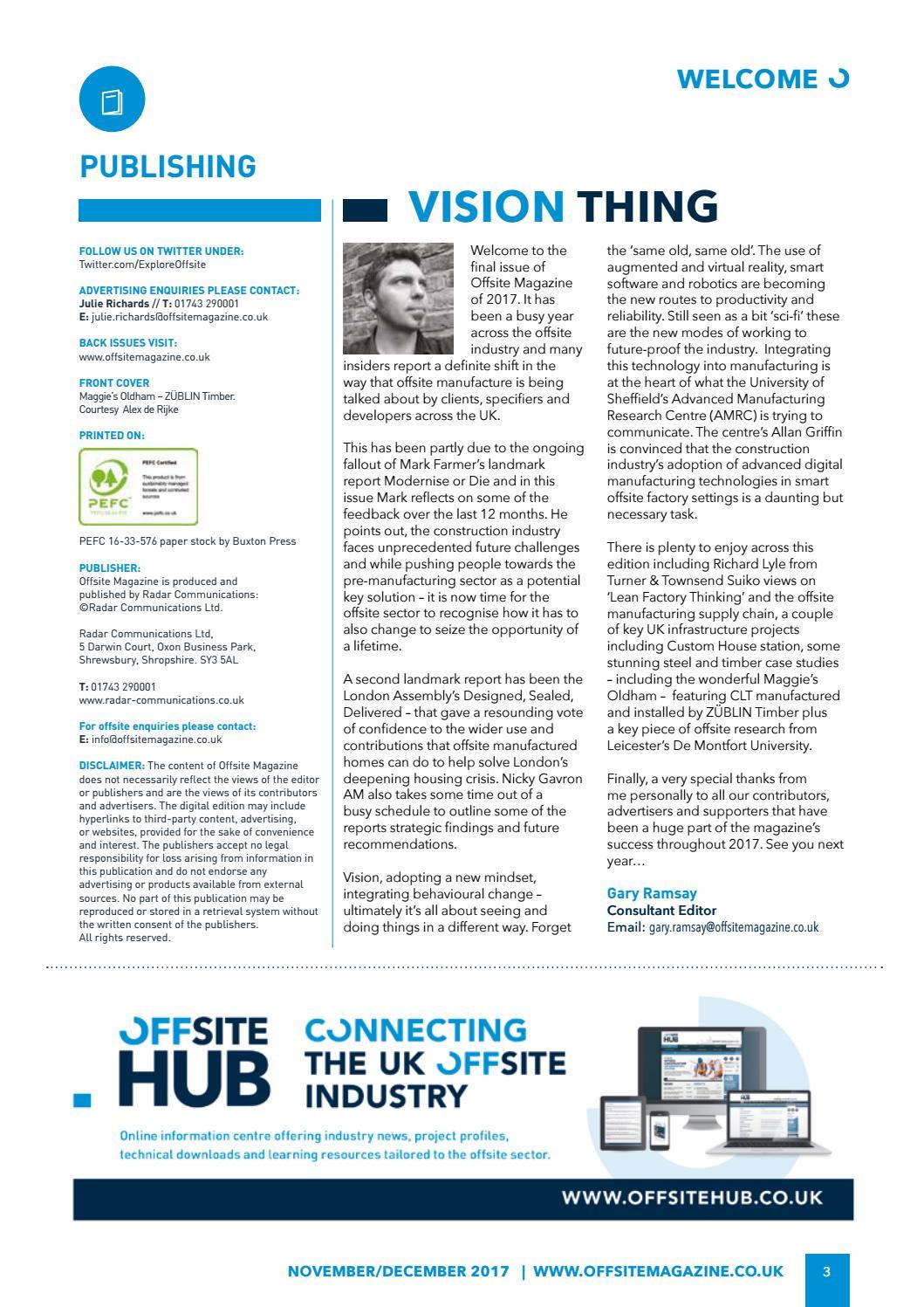 Offsite Magazine - Issue 8 (November/December)