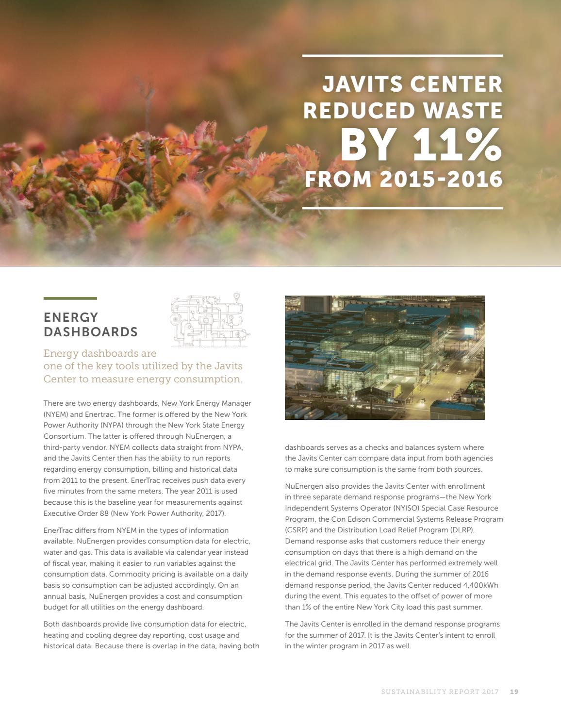 Javits Center Calendar.Sustainability Report By Javits Center Issuu