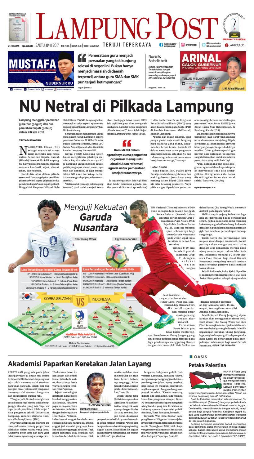 Lampung Post Sabtu 4 November 2017 By Issuu Perdana Axis Acak Revanyu
