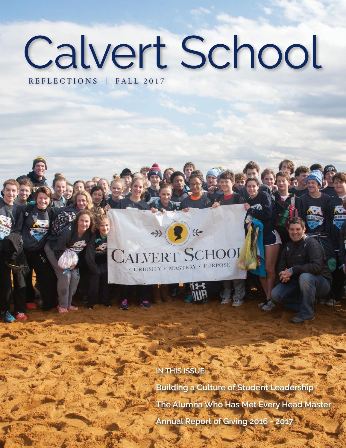 Calvert School Reflections Fall 2017 By Calvert School Issuu