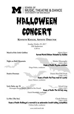 Halloween Concert 2017 by University of Michigan School of