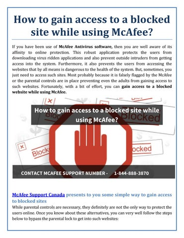 How to gain access to a blocked site while using mcafee by how to gain access to a blocked site while using mcafee if you have been use of mcafee antivirus software then you are well aware of its affinity to ccuart Images