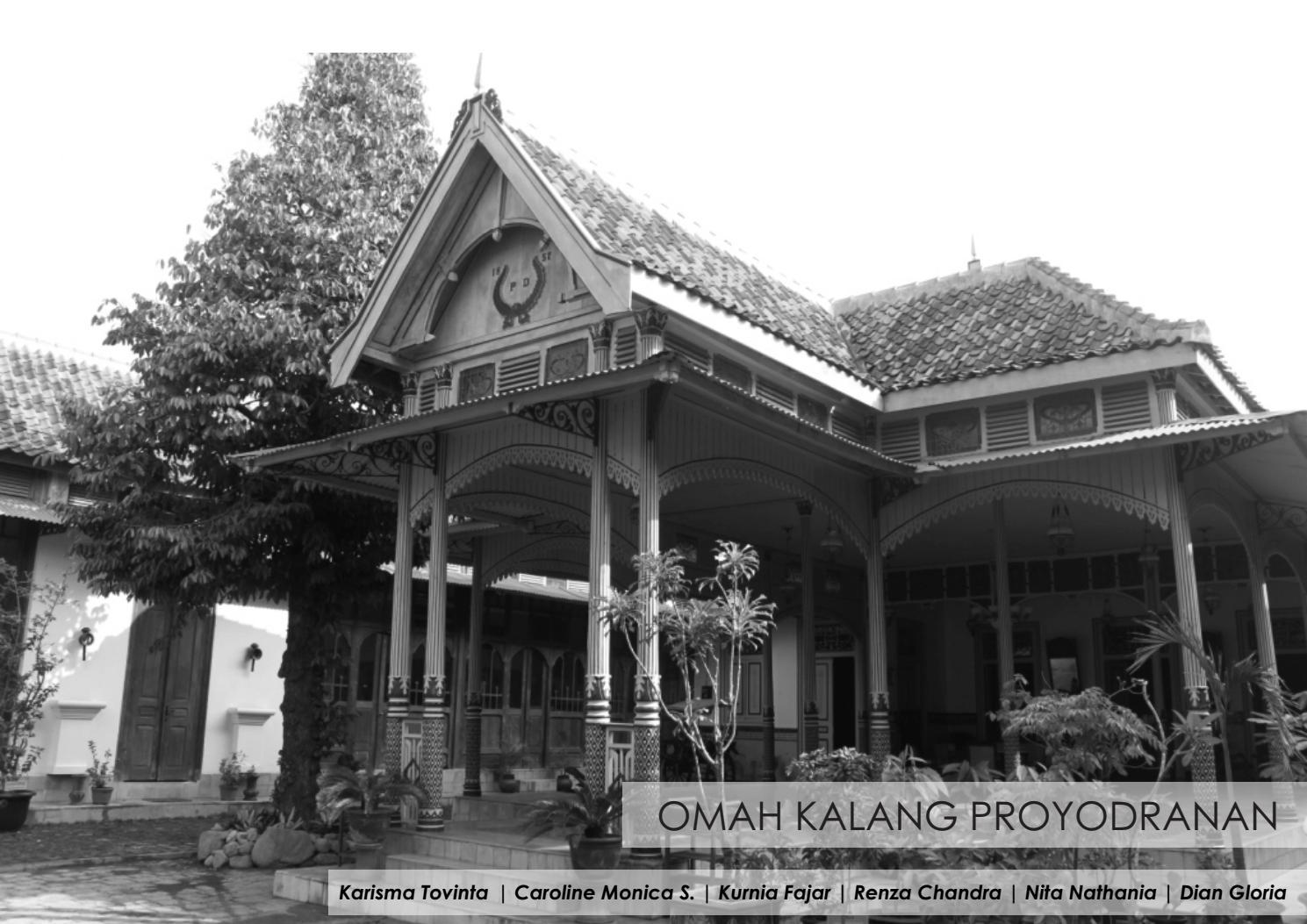 Konservasi Arsitektur Omah Kalang Proyodranan Kotagede