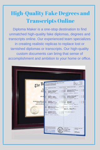 high quality fake degrees and transcripts online by diploma makers