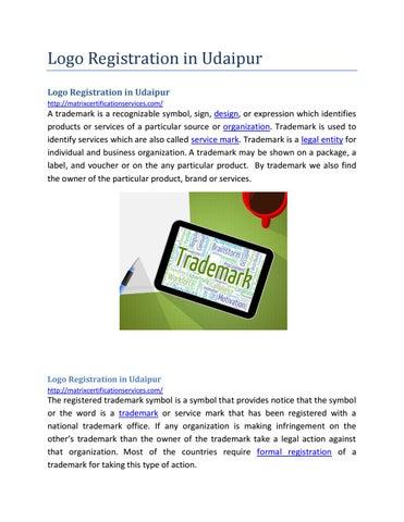Logo Registration In Udaipur By Mwebinfotech Issuu