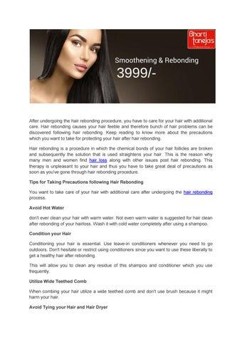 Hair Care After Hair Rebonding By Alpsbeautyclinic Issuu