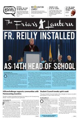The Friar's Lantern—October/November 2017 by The Friar's Lantern - issuu