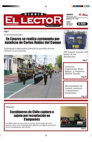 ad5f06e4638c8 Sabado 04 de noviembre 2017 by Diario El Lector del maule - issuu