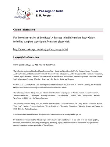 A Passage To India Analysis By Fabin Antonio Martnez Jimnez Issuu
