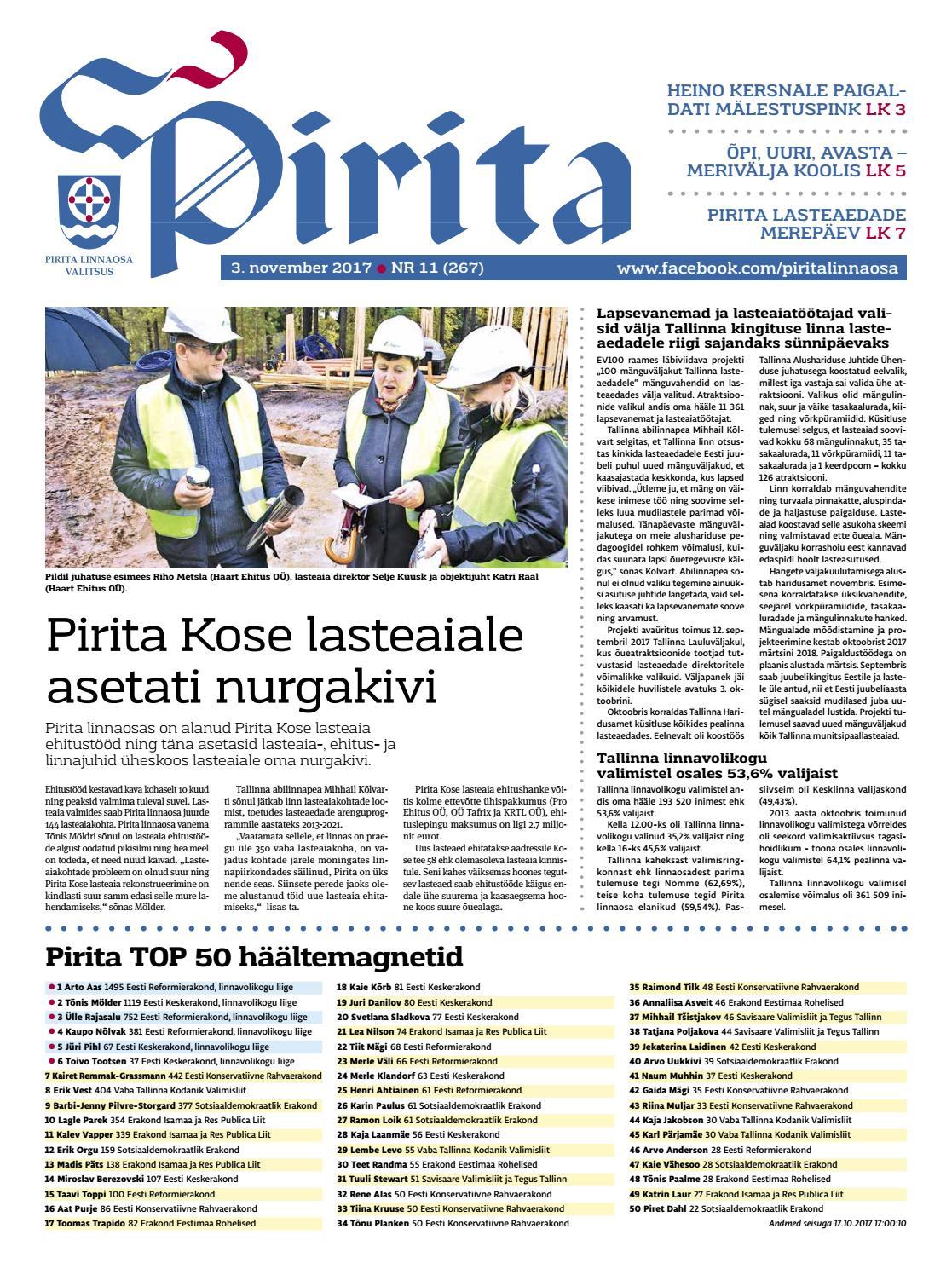 718e7a5b842 Pirita ajaleht november 2017 by Piritalinnaosavalitsus - issuu