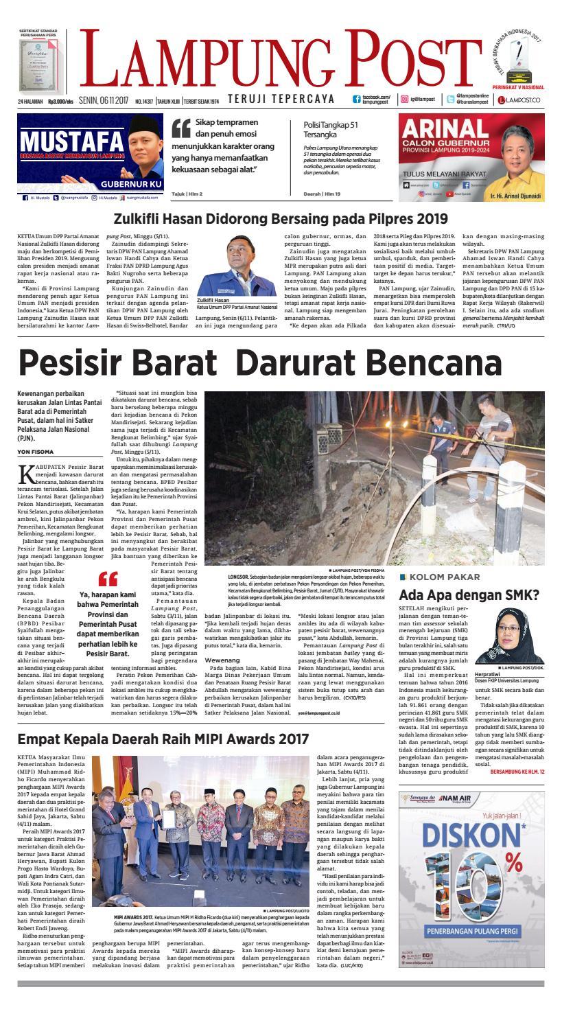 Lampung Post Senin 6 November 2017 By Lampung Post Issuu