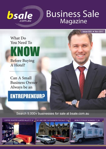 Business for Sale Magazine November 2017 by BSALE Australia