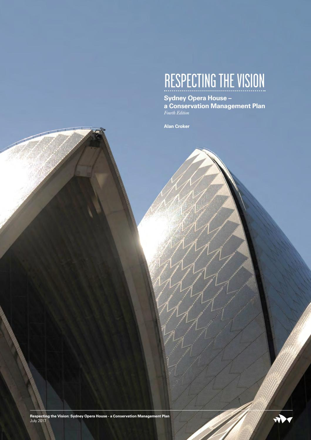 Conservation Management Plan Printable By Sydney Opera