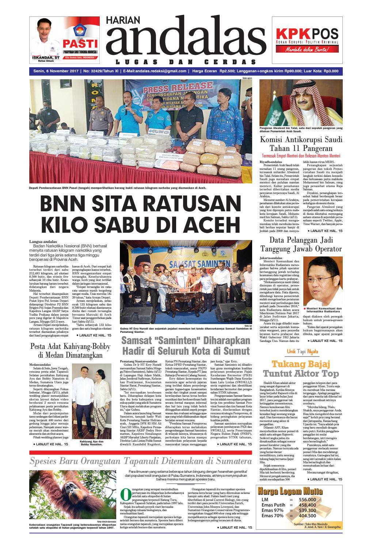 Epaper Andalas Edisi Senin 6 November 2017 By Media Issuu Fcenter Lemari Pakaian Wd Hk 1802 Sh Jawa Tengah