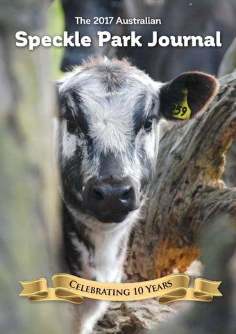 The 2017 Australian Speckle Park Journal By Bigwig Speckle