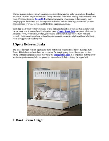 Important Points To Consider When Buying A Bunk Bed By Factory Direct Issuu