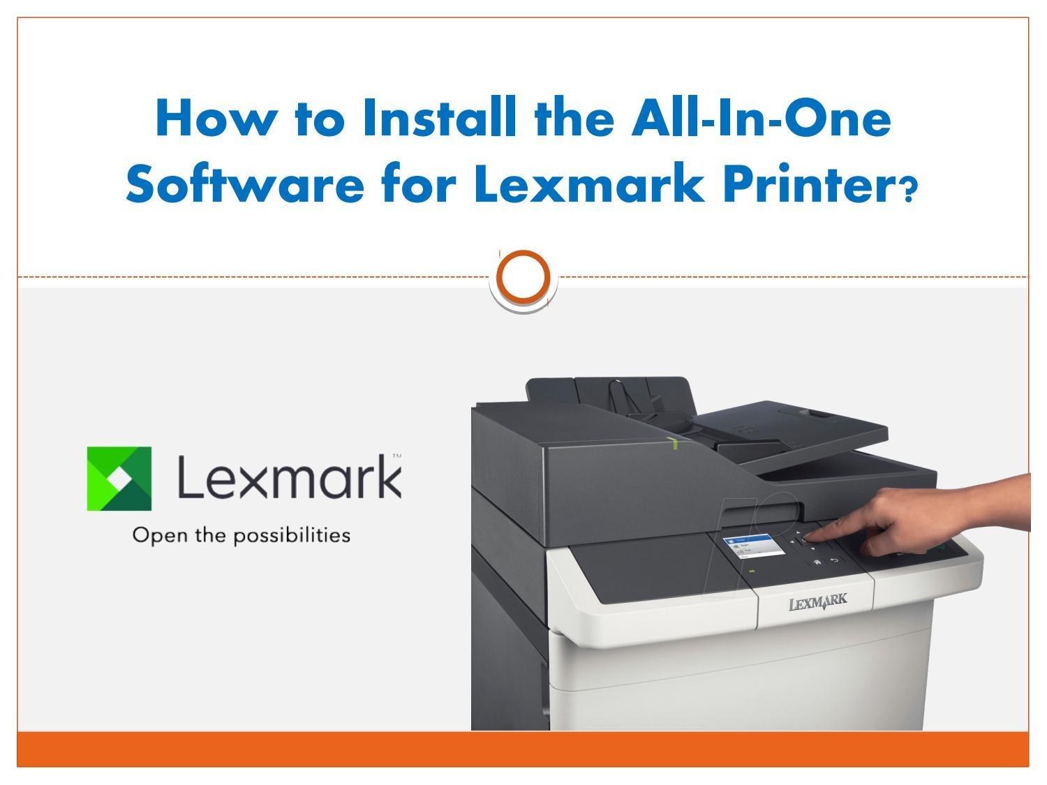 How to install the all in one software for lexmark printer by Latonya Park  - issuu