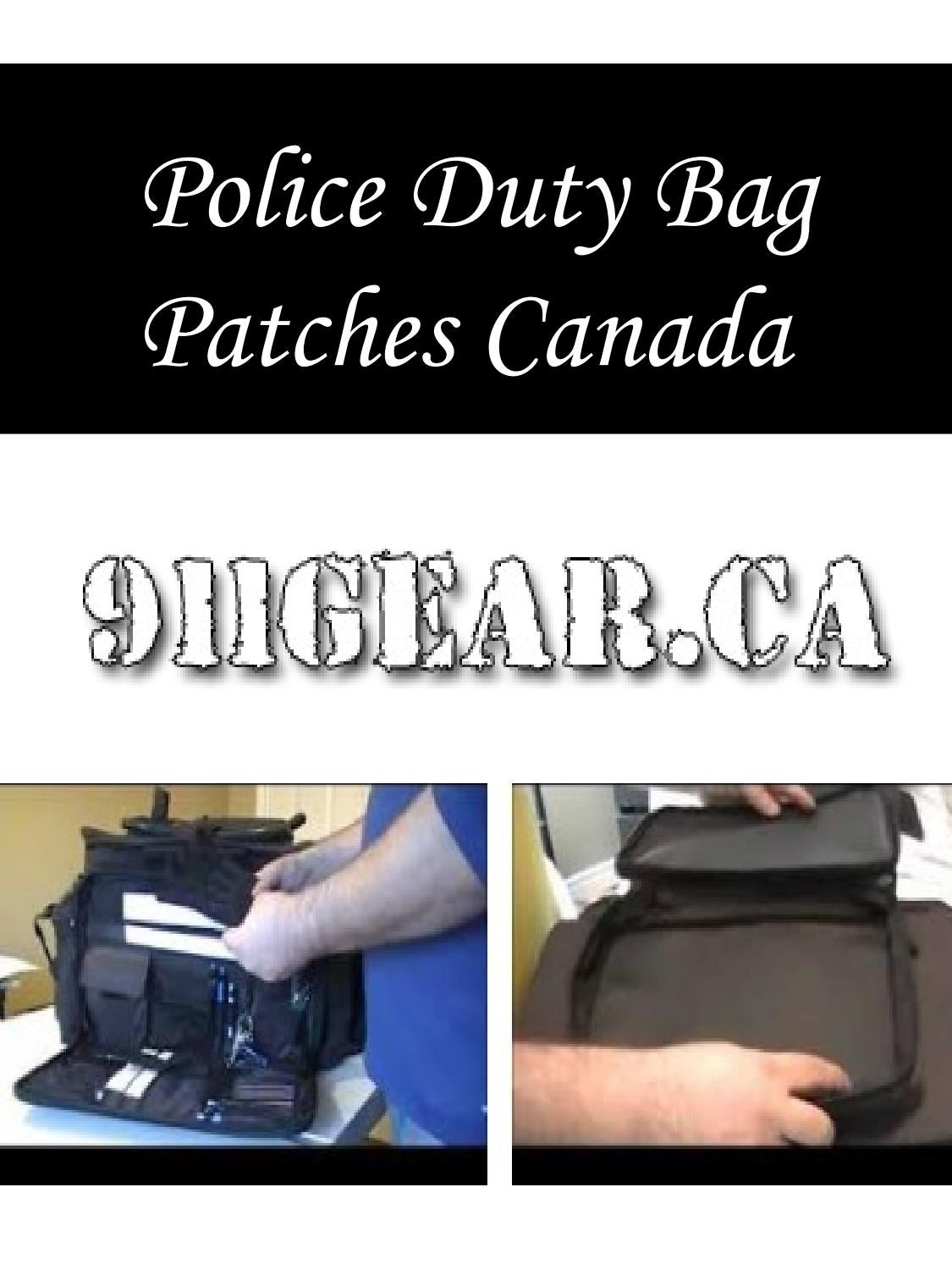 Police Duty Bag Patches Canada by Garry - issuu