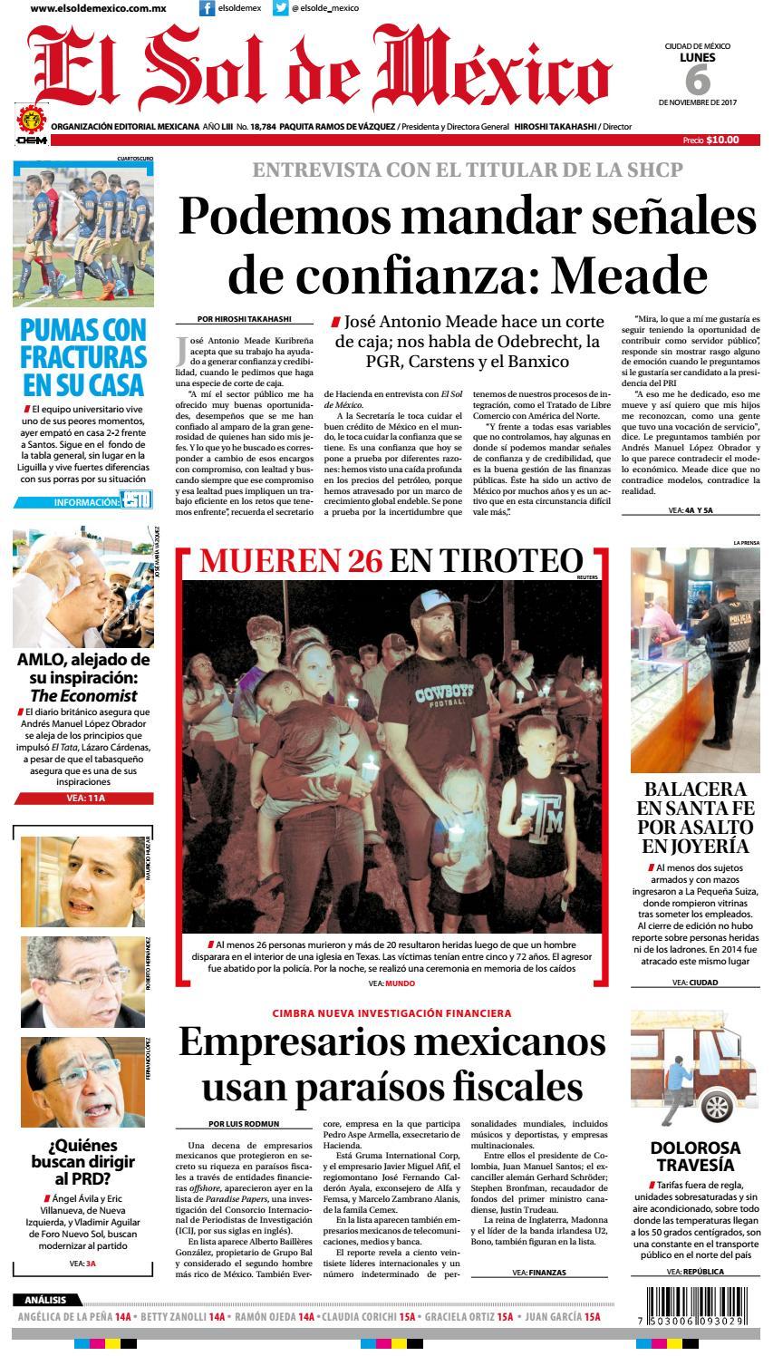 1c2e1fdda335 El Sol de México 6 de Noviembre by El Sol de México Online - issuu