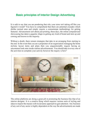 Basic Principles of Interior Design Advertising by MediaQart ...