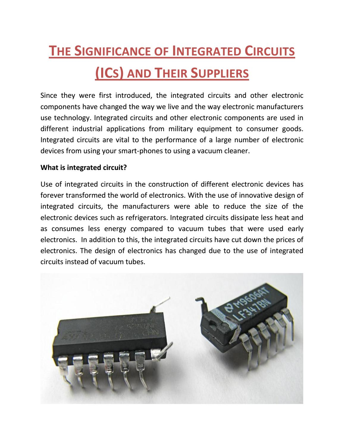 Manufacturing industrial integrated circuit electronic devices