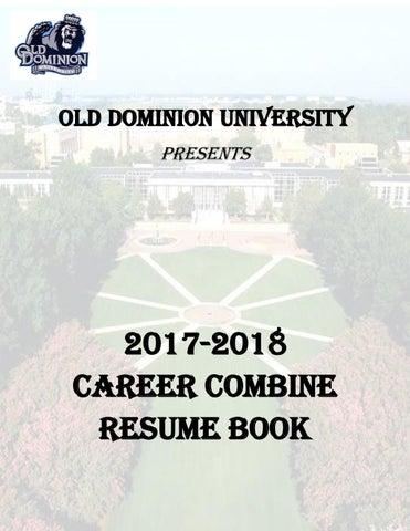 ODU Career Combine Resume Book by ODU SD PRIDE - issuu