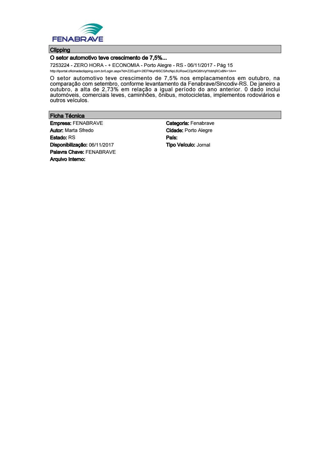 404a5fb07d5b6 Clipping Fenabrave 06.11.2017 by MCE Comunicação - issuu