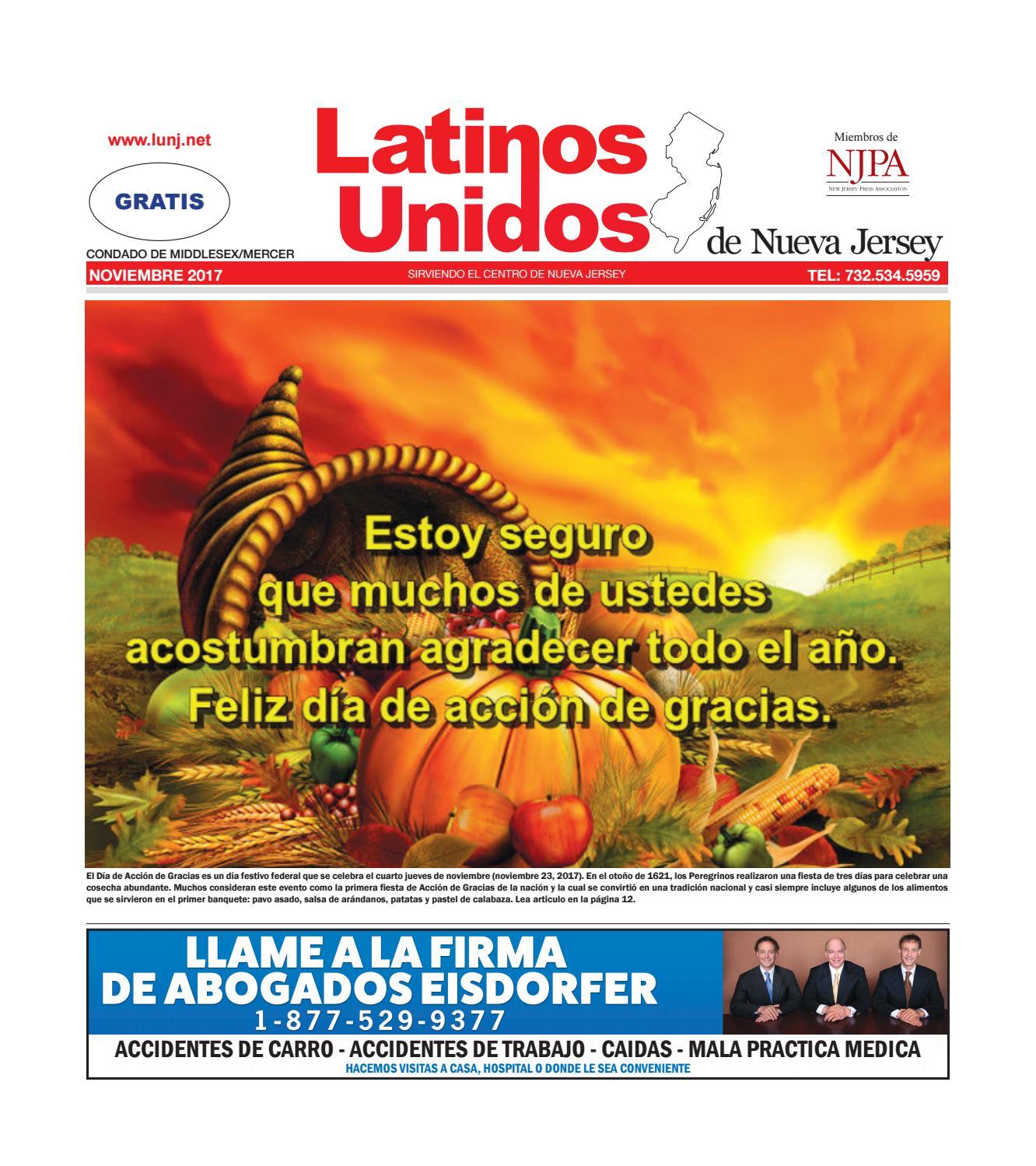 LUNJ Middlesex - Mercer November 2017 by Latinos Unidos de NJ - issuu b61474a0fff6c