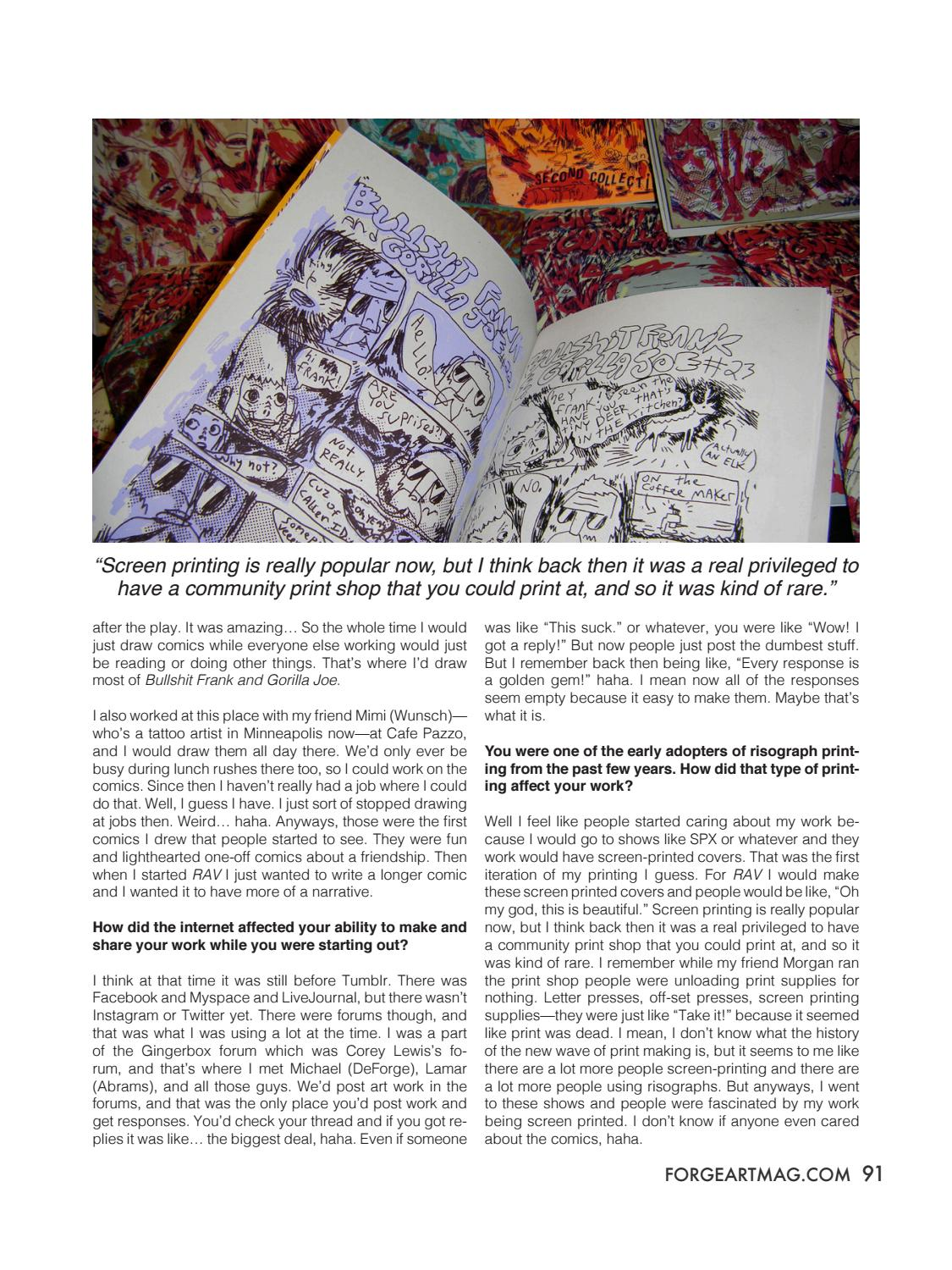 180b36de FORGE. Issue 17: Risk by FORGE. Art Magazine - issuu