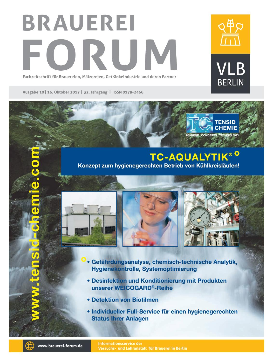 Brauerei Forum 10/2017 by VLB Berlin - issuu