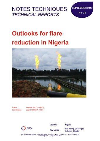 Oulooks for flare reduction in Nigeria by Agence Française de