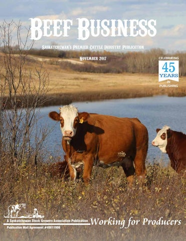 Beef Business November 2017 by Saskatchewan Stock Growers