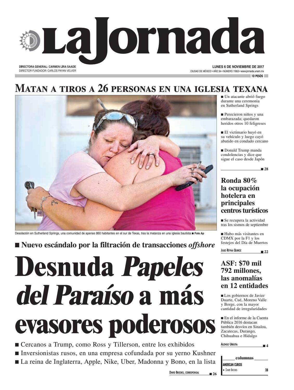 La Jornada, 11/06/2017 by La Jornada: DEMOS Desarrollo de Medios SA ...