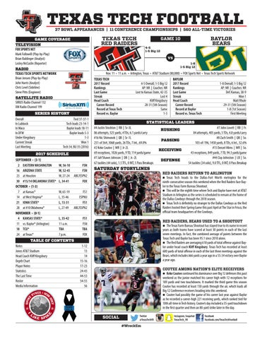 363368211ac Game Notes  Texas Tech vs. Baylor by Texas Tech Athletics - issuu