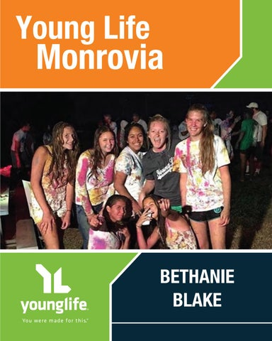 Young Life Monrovia — Bethanie Blake by Young Life - issuu