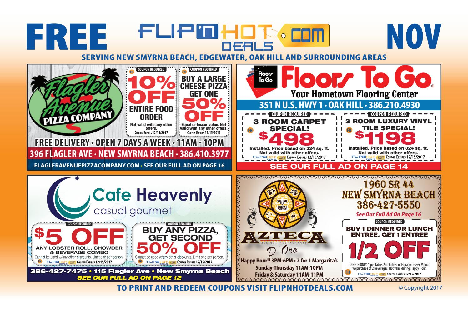 Flipnhot Deals Coupon Book November  New Smyrna Beach Area By Flipnhot Deals Issuu