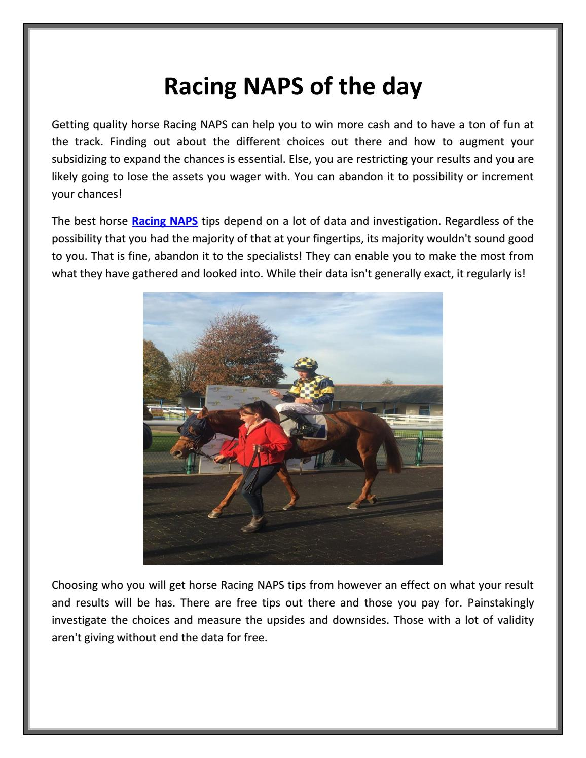 Racing naps of the day by Chasing Profit - issuu