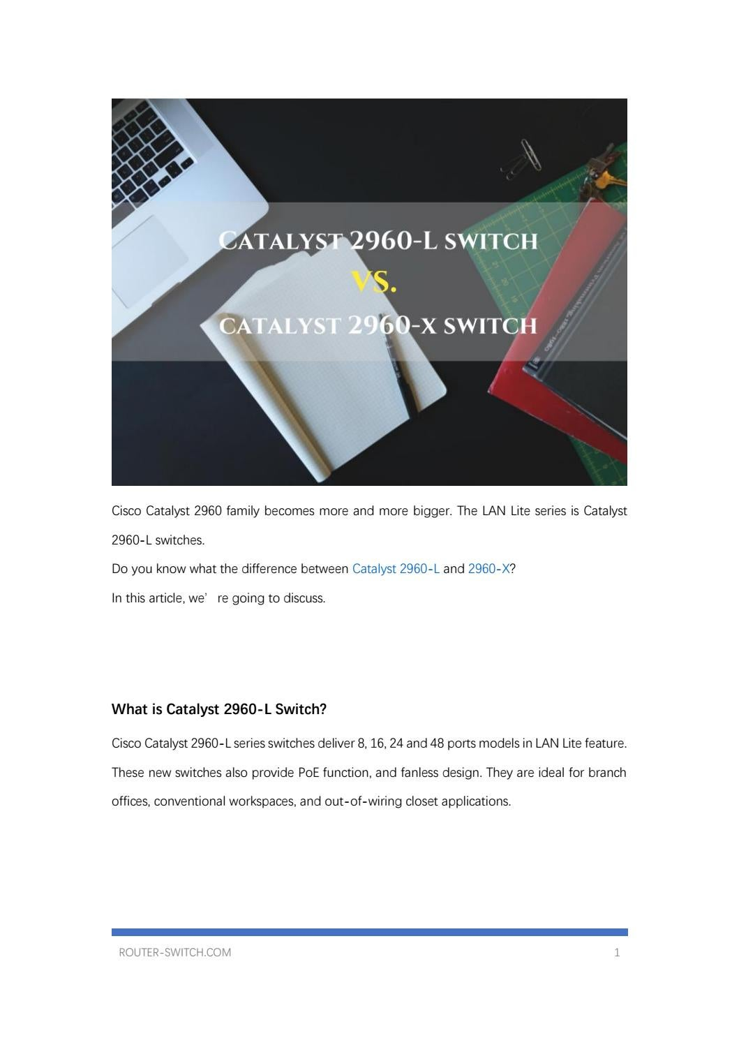 Cisco Catalyst 2960 L Switch Vs X By Meela Zeng Necessary Should Be Connected To Series Issuu