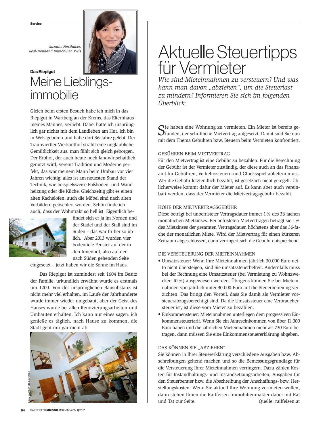 Raiffeisen Immobilien Magazin By Raiffeisen Oberoesterreich Issuu