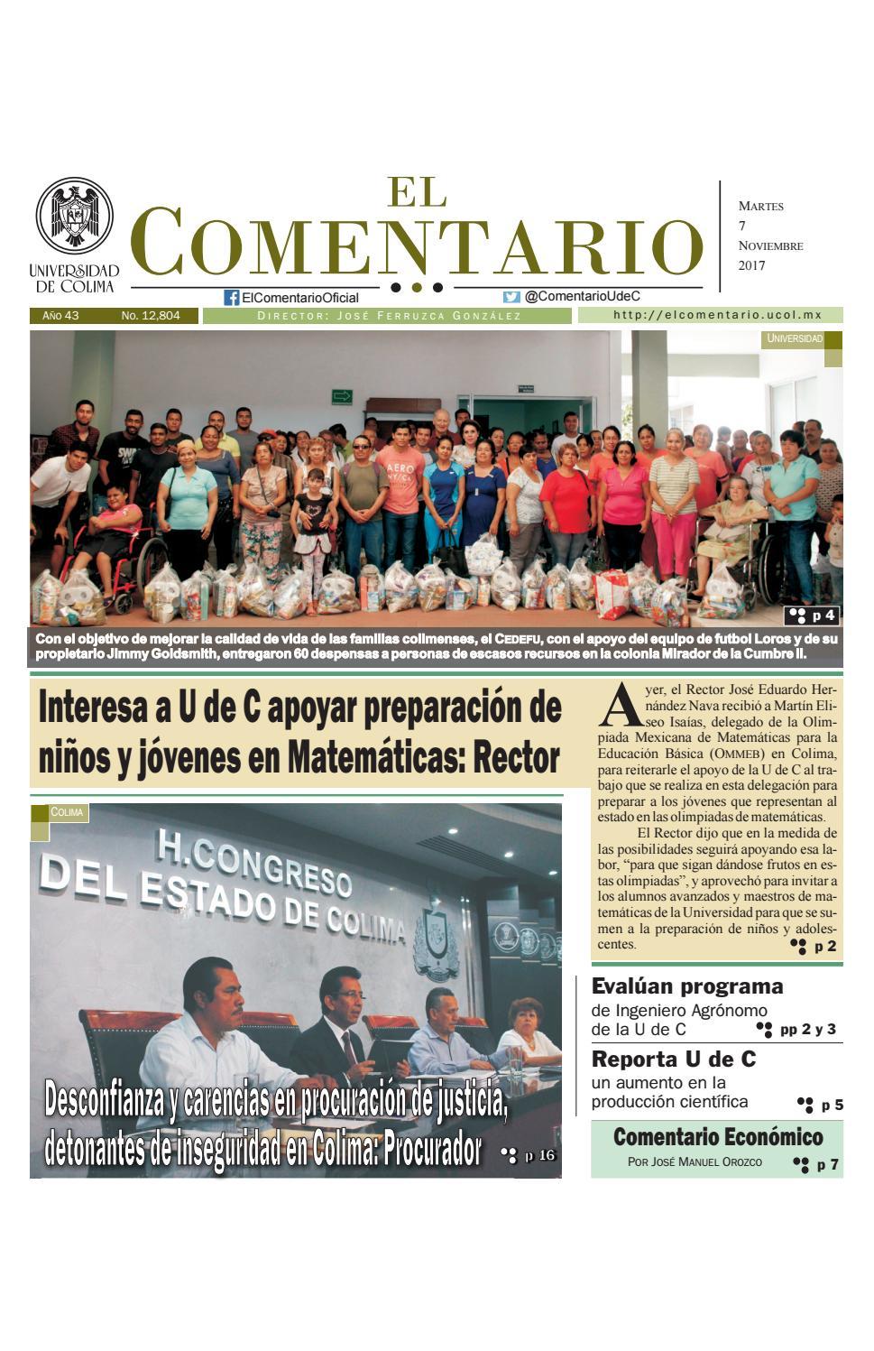 Edición del martes 7 de noviembre de 2017 by Pepe Ferruzca - issuu