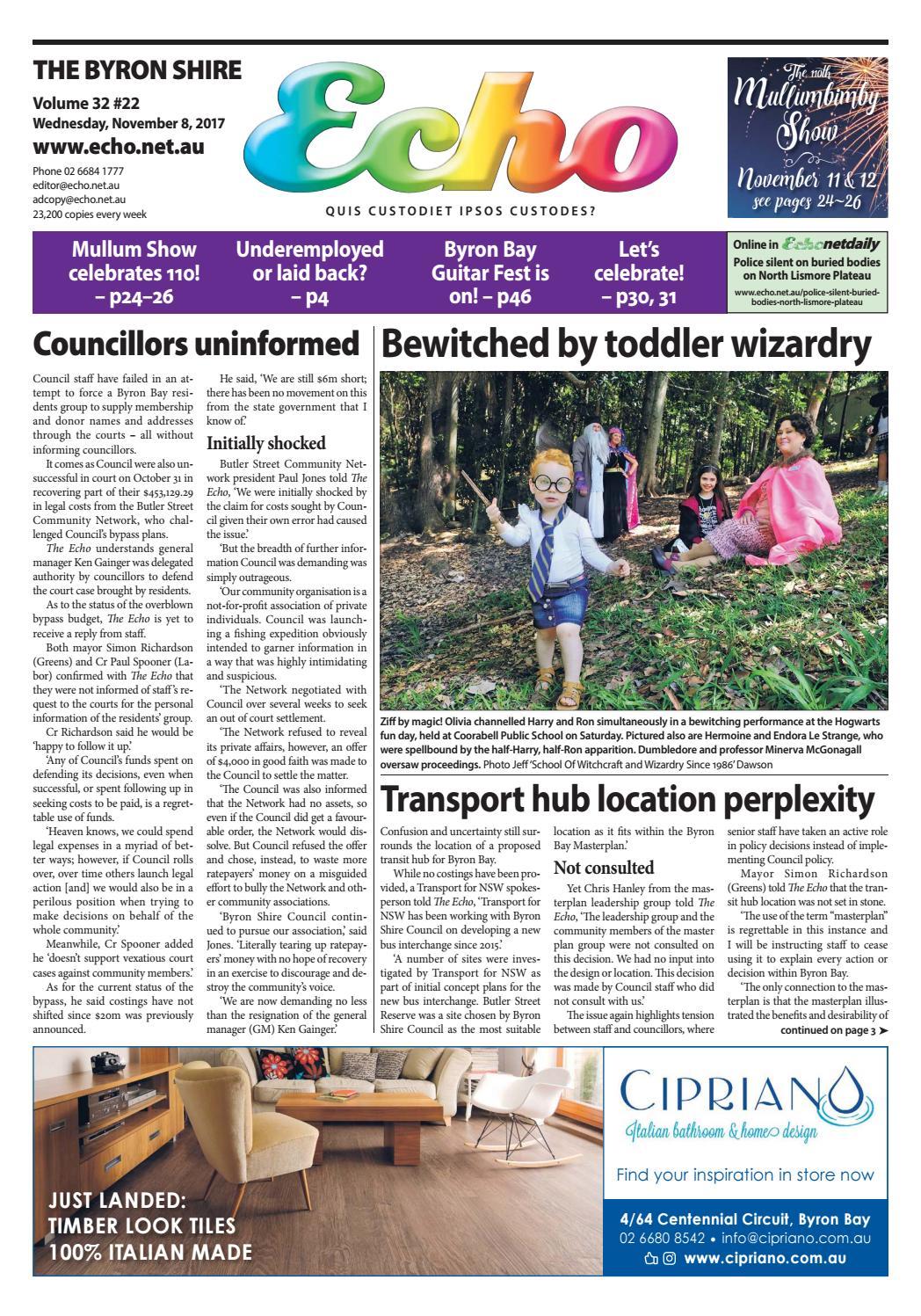 bdac94bdaadd4 Byron Shire Echo – Issue 32.22 – 08 11 2017 by Echo Publications - issuu
