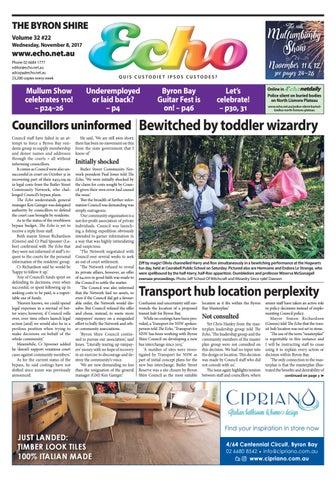 30befacd913 Byron Shire Echo – Issue 32.22 – 08 11 2017 by Echo Publications - issuu