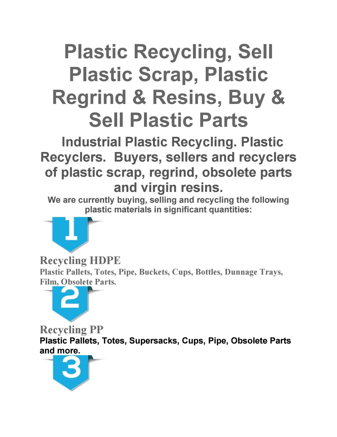 Plastic recycling by Mike Halwits - issuu