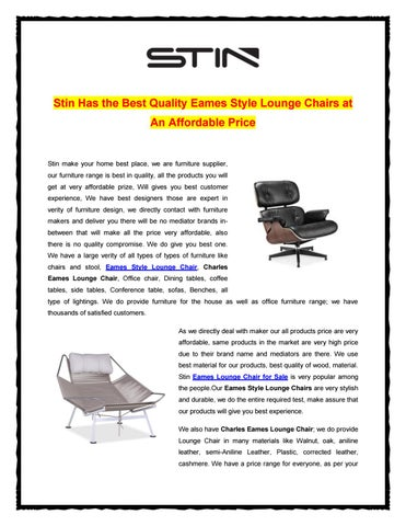 Groovy Lounge Chairs At An Affordable Price By Stin Furniture Issuu Gmtry Best Dining Table And Chair Ideas Images Gmtryco