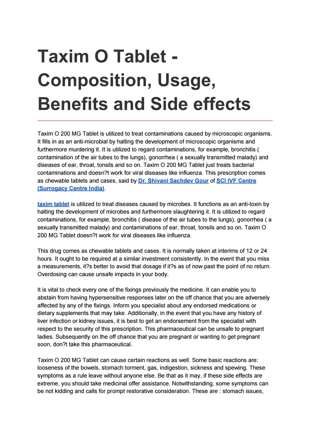 Magnificent Taxim O Tablet Usage Benefits And Side Effects By Yon Fra Home Remodeling Inspirations Genioncuboardxyz
