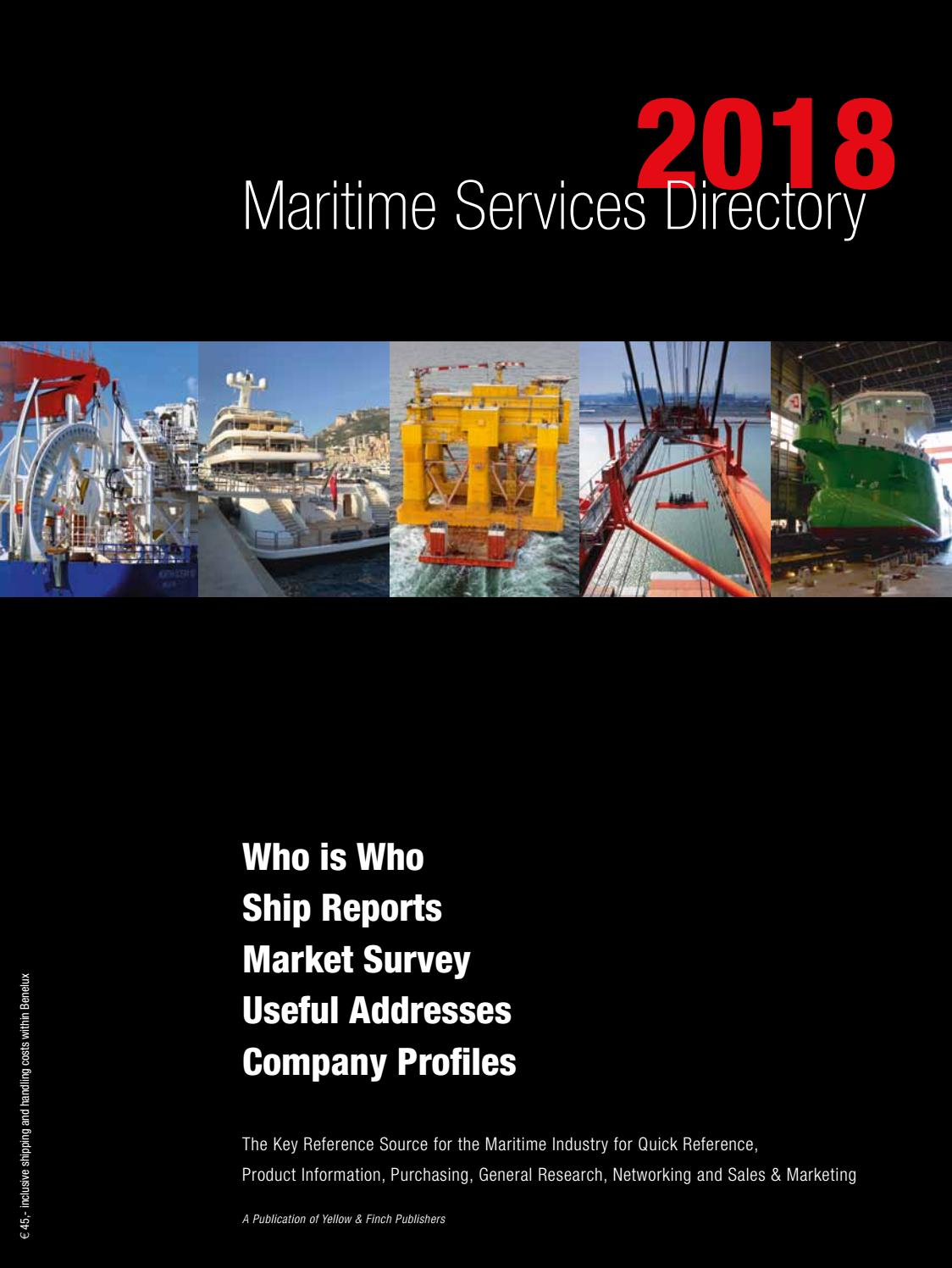 Maritime Services Directory 2018 By Yellow Finch Publishers Issuu How Solar Energy Works Diagram Apps Directories