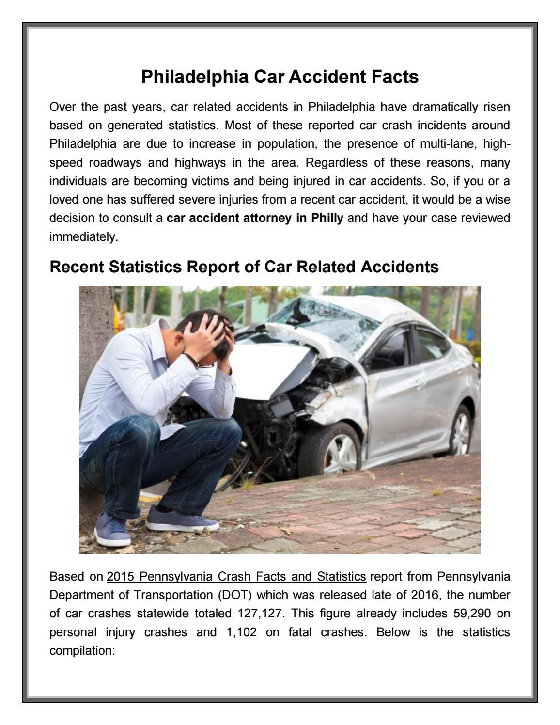Philadelphia car accident facts by Philadelphia-Injury