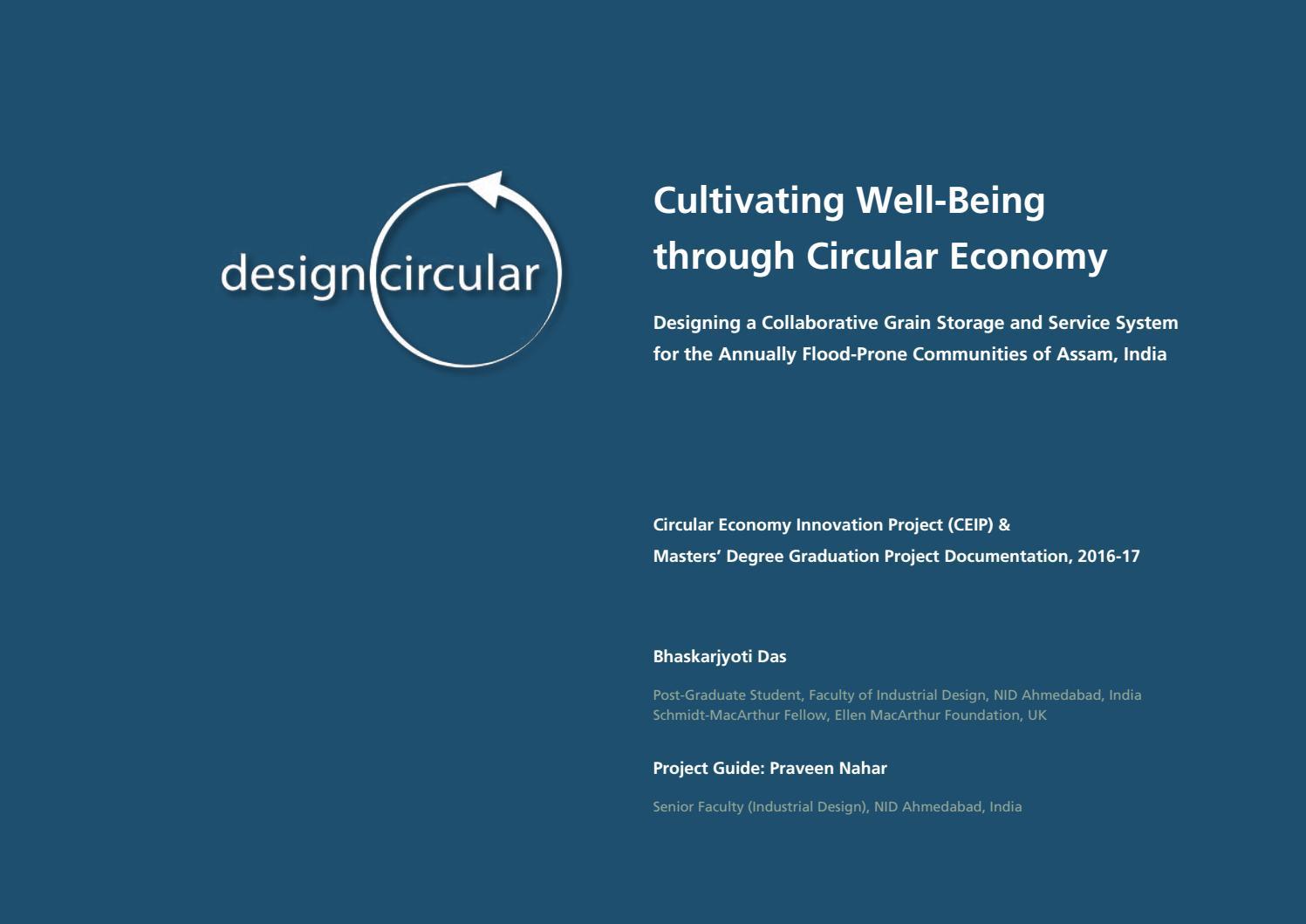 Cultivating well-being through circular economy by Bhaskarjyoti Das