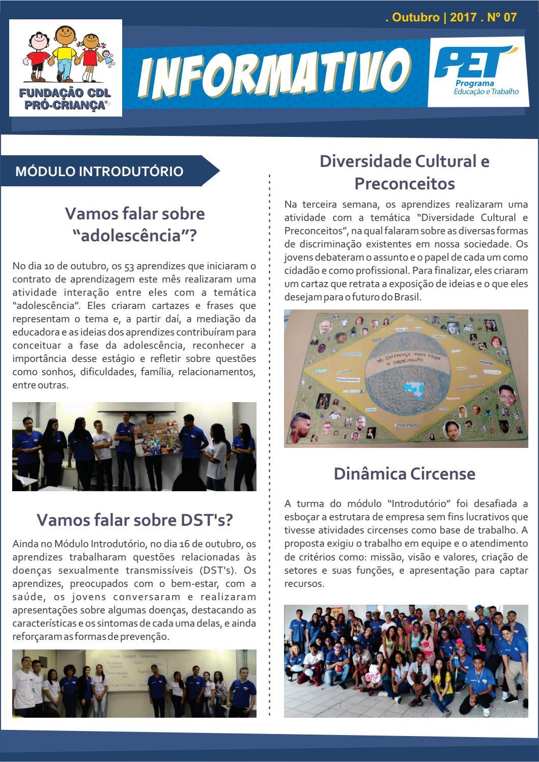 Informativo Pet Outubro 2017 By Fundação Cdl Pró Criança